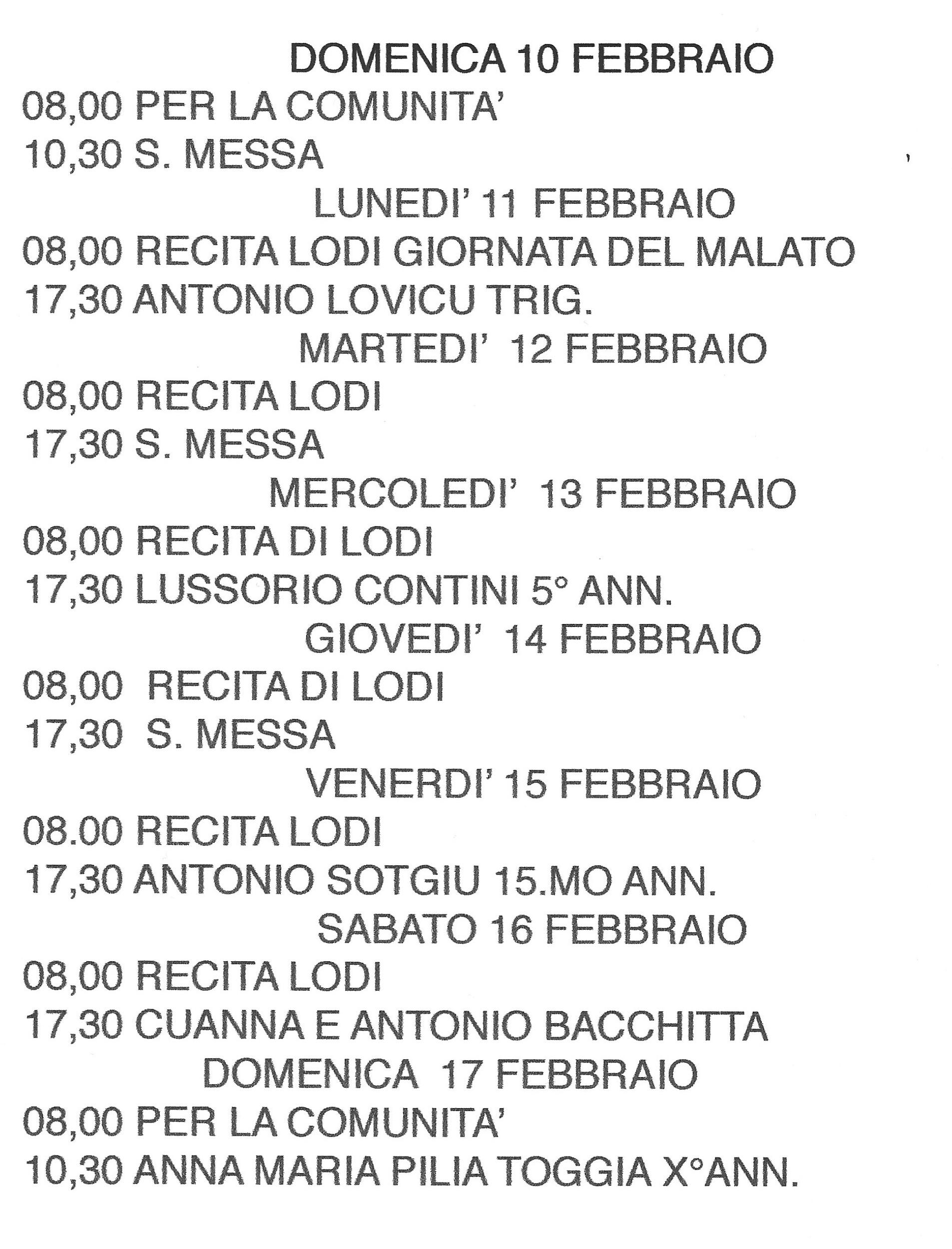 Pagina Calendario Settimanale.Senza Categoria Pagina 7 Parrocchia Cala Gonone
