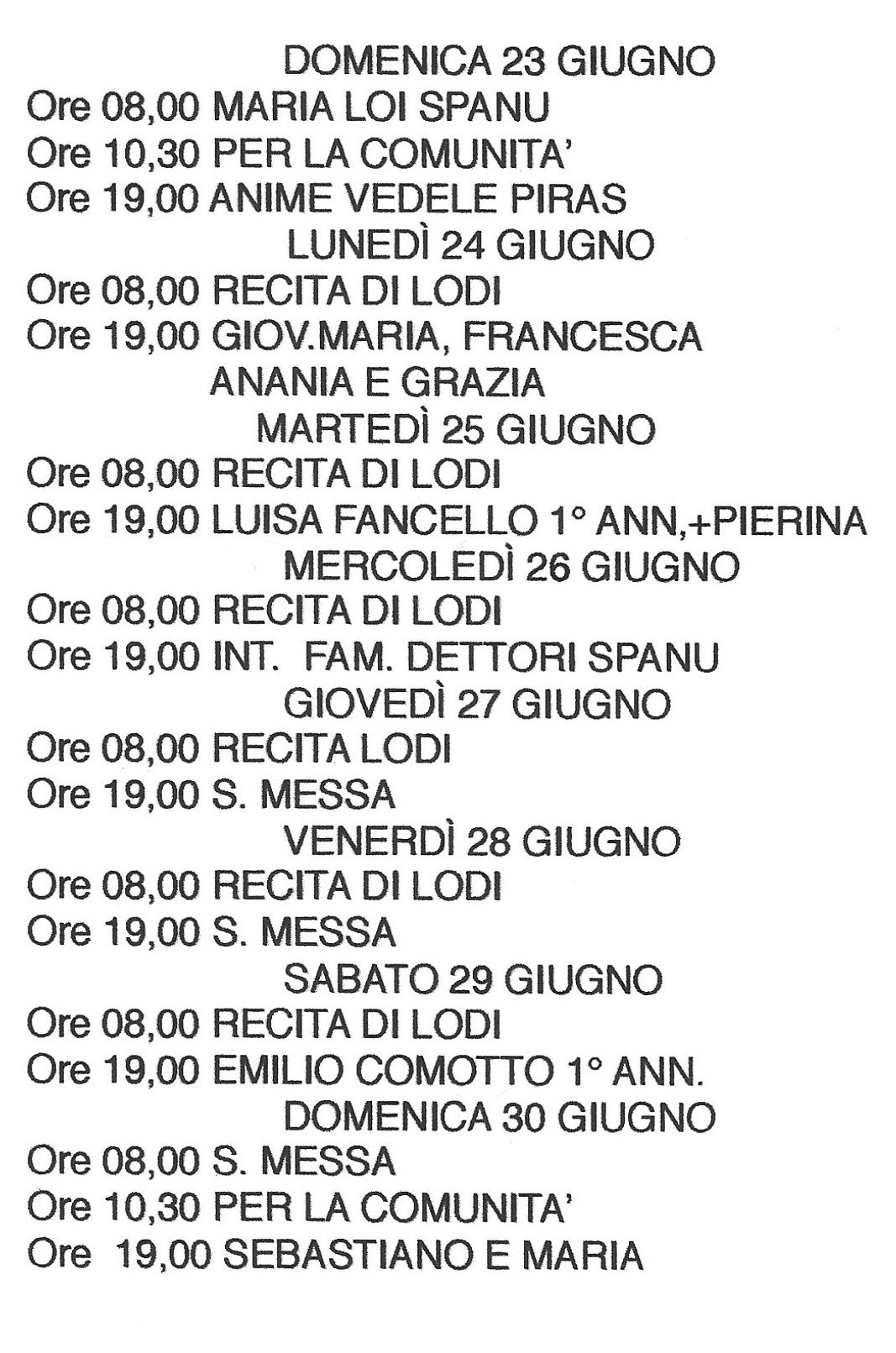 Pagina Calendario Settimanale.Parrocchia Cala Gonone Pagina 3 Il Sito Web E Blog Della