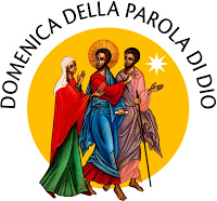 "The official logo for the Sunday of the Word of God was unveiled at the Vatican Jan. 17. The colorful logo depicts ""The Road to Emmaus"" and is based on an icon written by the late Benedictine Sister Marie-Paul Farran. The newly established day is being celebrated Jan. 26 and is meant to be devoted to the celebration, study and dissemination of the word of God. (CNS logo/courtesy Pontifical Council for Promoting New Evangelization) See WORD-GOD-LOGO Jan. 17, 2020."